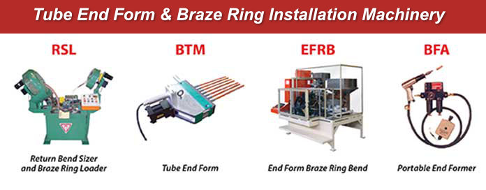 Tridan Tube End Form and Braze Ring Installation Machinery