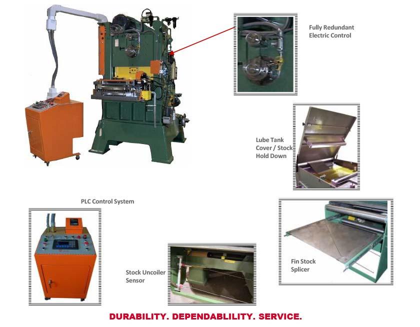Model RLB Fin Press
